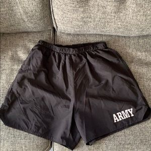 Men's ARMY PT Running Shorts Trunks Medium Used